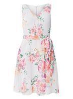 Womens **Billie & Blossom Petite Floral Grey Dress- Grey