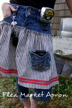 Cute apron from old jeans