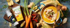 BILLA | Polévkou proti nachlazení: Mrkvový krém se zázvorem Ramen, Ethnic Recipes, Food, Meal, Eten, Meals, Windows