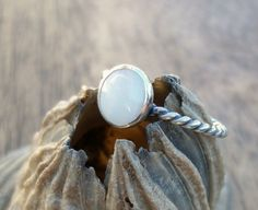 Trending SALE  Mother of Pearl and Sterling by LaurelAndLime