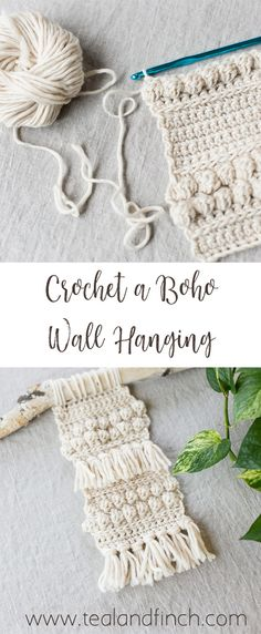 Crochet a Boho Wall Hanging Crochet a Boho Wall Hanging – Teal & Finch, bohemian home decor, easy crochet tutorial, video course Boho Crochet Patterns, Crochet Motifs, Crochet Designs, Hippie Crochet, Crochet Ideas, Crochet Wall Art, Crochet Wall Hangings, Diy Crochet Wall Hanging, Crochet Decoration