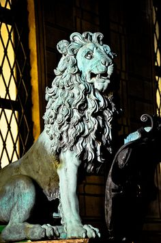 Day 1: Lion statue at the Residenz Royal Palace Munich Germany