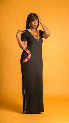 My mom would love this kind of dress  africanprint  42cea0fba