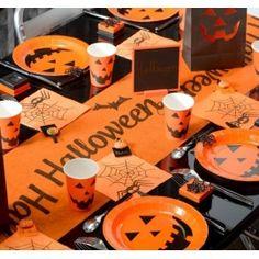 Chemin de table Halloween, déco de table, art de table, fêtes