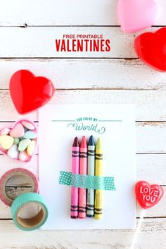Crayon Valentines fo