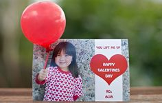 3D VALENTINE'S DAY BALLOON CARD (cute to hand out for a kid's class)