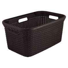 45L Rattan Rectangular Laundry Basket-Brown- This has to be ordered as area Target's do not stock this.  I like this design because is wipes clean.