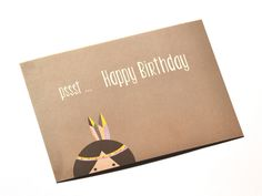 Wie wäre es mit einem Geburtstagsgruß aus dem Briefkasten oder einer hübschen Karte am Geschenk?! Hier wartet eine kleine Indianerin auf einen der schönsten Tage im Jahr.
