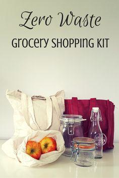 Zero Waste Nerd: Zero Waste Grocery Shopping Kit