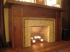 Fireplace Facelift Before and After | Before and After: Fireplace Facelift By Colleen