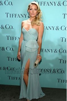 Kate Hudson Strapless Prom Evening Bridesmaids Dresses Tiffany   Co. Blue  Book Ball Gown -. Sexy ... 31c5ae35b