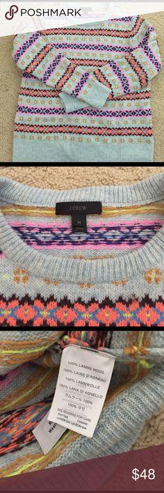 J. Crew Sweater 💯 Wool J. Crew Sweater, only worn once!! J. Crew Sweaters Crew & Scoop Necks