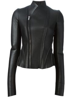 Shop Rick Owens Lilies corset style biker jacket in Anastasia Boutique from the world's best independent boutiques at farfetch.com. Over 1000 designers from 300 boutiques in one website.