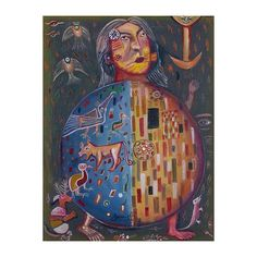 NOVICA Signed Cubist Painting of a Person with Animals from Peru ($133) ❤ liked on Polyvore featuring home, home decor, wall art, cubist paintings, paintings, novica paintings, spanish paintings, cubism paintings and fruit paintings