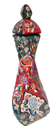 Handmade Ceramic Threaded Vase - My Site