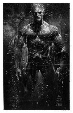 Aquaman by Eddy Newell Aquaman, Batman, Superman, Dc Comic Books, Comic Book Heroes, Comic Art, Dc Comics Art, Anime Comics, Marvel Vs