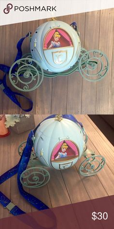 ✨👠Collectible Cinderella carriage popcorn bucket Bought from Disneyland in California. Disney Bags Baby Bags