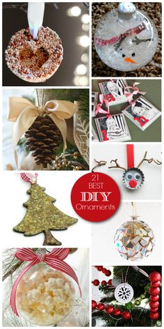 21 Best DIY Ornaments - Make these gorgeous ornaments yourself. Great for gifts! #Christmas #DIY #gifts