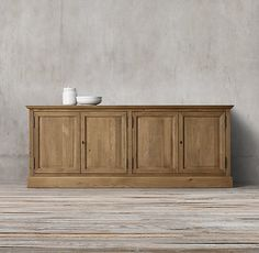 """French Panel Sideboard   72""""W x 17¾""""D x 35½""""H"""