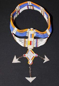 AFRICAN MAASAI MASAI BEADED ETHNIC TRIBAL HEAD CROWN TIARA JEWELRY - TANZANIA 02