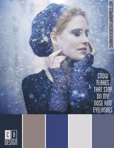 Snowflakes That Stay On My Nose and Eyelashes   Color Blocks Design 10.1.12