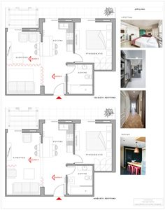 project_Small apartment's renovation in Kalamata, Messinia Apartment Renovation, Small Apartments, Floor Plans, How To Plan, Creative, Projects, Architecture, Blue Prints, Small Flats