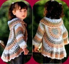 Receita de Crochê Infantil: BOLERO INFANTIL EM CROCHÊ p