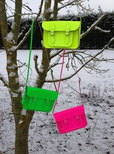 fluorescent bags by @The Cambridge Satchel Company #hot #neon
