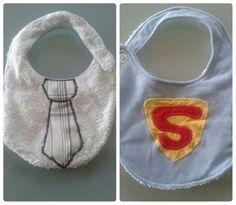 Bavaglino bimbo double face.. Clark Kent / Superman :)