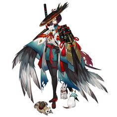 Onmyoji - Ubume Female Character Design, Character Design Inspiration, Character Concept, Character Art, Concept Art, Girls Characters, Manga Characters, Fantasy Characters, Anime Fantasy