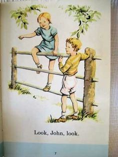 Janet and John set me on the path to a lifetime's reading. Janet And John Books, First Reading Books, Books To Read, My Books, It Takes Two, Childhood Days, Learn To Read, Childrens Books, Illustrators
