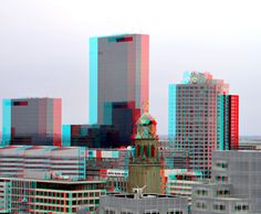 https://flic.kr/p/yo1ow5   Tower Townhall Rotterdam 3D   View from Laurenstoren anaglyph stereo red/cyan
