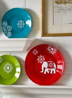 DIY Handmade Charlotte Decorative Bohemian Elephant Plates are an easy way to update your space. | home decor