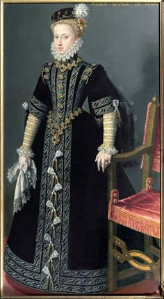 Ana de Austria, cuarta esposa de Felipe II. Era hija de Maximiliano II de Austria.