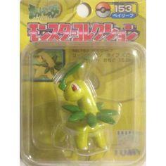 "Pokemon 2004 Bayleef Tomy 2"" Monster Collection Plastic Figure #153"
