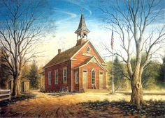 English Irish British Church Chapel Signed Numbered Limited Art by Randy Souders