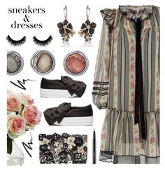 """""""Sneakers and Dresses"""" by annbaker ❤ liked on Polyvore featuring Nearly Natural, Marc Jacobs, Accessorize, Joshua's, Effy Jewelry, MAC Cosmetics, Anna Sui and SNEAKERSANDDRESSES"""