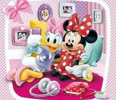 Minnie y Daisy Disney Micky Maus, Disney Pixar, Cute Disney, Disney Cartoons, Walt Disney, Disney Characters, Disney Images, Disney Pictures, Pato Donald Y Daisy