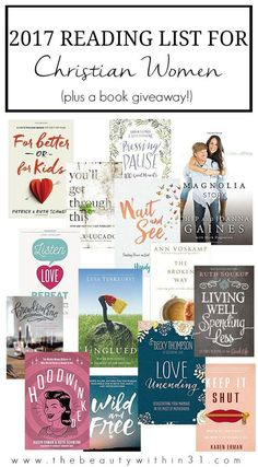 2017 reading list for christian women inspiration (16 books recommended for Christian women)