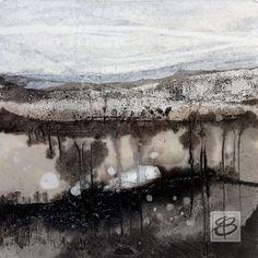 Etienne Boiteux Chinese Landscape Painting, Landscape Artwork, Landscape Drawings, Watercolor Landscape, Abstract Watercolor, Watercolour, Painting Snow, Encaustic Art, Country Art