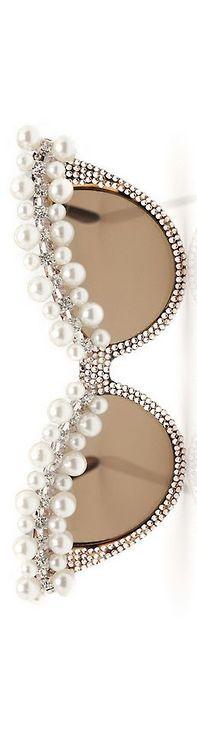 A-Morir 'Lena' Sunglasses Spring 2012, designer Kerin Rose via ♥ Pearls ♥ Diamonds ♥