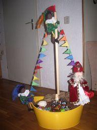 Sinterklaas: Stoomboot van wasmand
