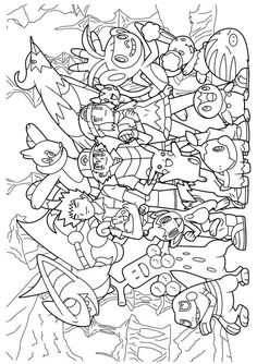 pokemon diamond pearl coloring pages - Watercolor Pages