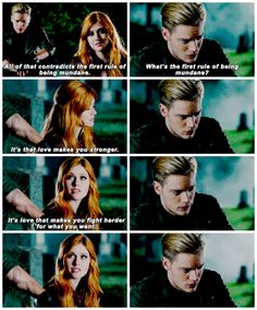 "#Shadowhunters 1x08 ""Bad Blood"" - Clary and Jace"