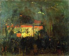 William Glackens - c1895 Outdoor Theater
