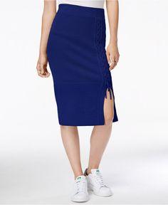 RACHEL Rachel Roy Lace-Up Sweater Skirt - RACHEL Rachel Roy - Women - Macy's