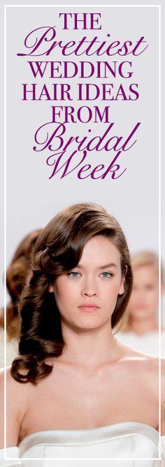The Prettiest Wedding Hair Ideas From Bridal Fashion Week