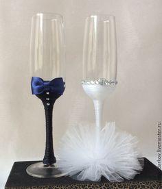 Купить Бокалы молодым - разноцветный, бокалы для свадьбы, бокалы для молодоженов, бокалы для шампанского