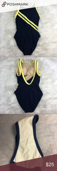 Mainstream Blue Neon Yellow bathing suit Great pre owned condition. No holes or stains.  Size 10   B-H2  3/20/18 mainstream Swim One Pieces