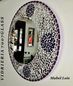 1000 images about espejos mosaiquismo http facebook for Espejos circulares pequenos